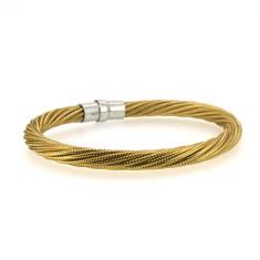 Sterling silver 'twister' bracelet in gold