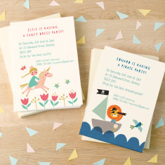 Personalised Children's Birthday Party Invitations (set of 8)