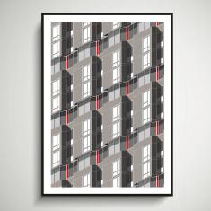 New York Facades - Eastwood, Roosevelt Island giclee art print