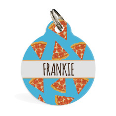 Personalised pet ID tag standard Pizza