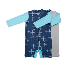 Baby sunsuit for boys in Byron Navy