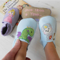 Personalised story telling shoes for baby and child