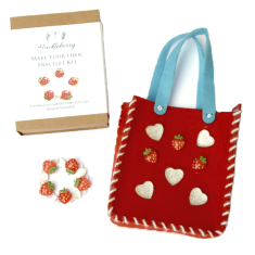 Make your own bracelet & bag kit in strawberry designs