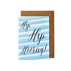 Hip hip hooray greeting cards (pack of 5)