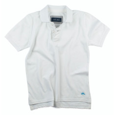Boys Vintage white polo shirt