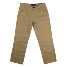 Boys smart beige flat fronted chino