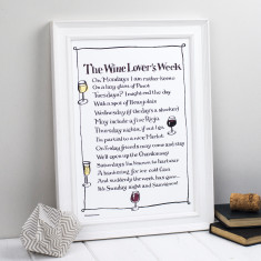Wine lover personalised poem print