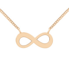 Engravable infinity necklace