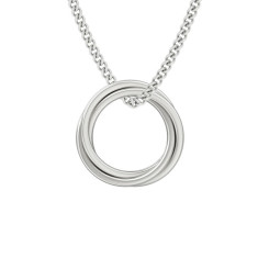 Engraveable Zara Russian rings necklace