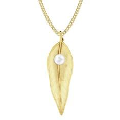 Terre-Et-Mer leaf & pearl necklace