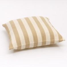 Solid Stripe Cushion Cover -Cream and White