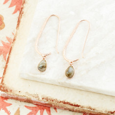 Pebble Hook Earrings With Labradorite