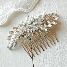 Silver Vintage Style Wedding Hair Comb