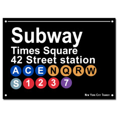 NYC SUBWAY Print - Times Square