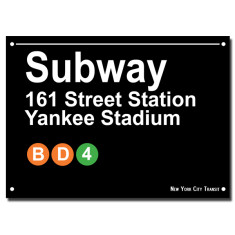 NYC SUBWAY Print - Yankee Stadium
