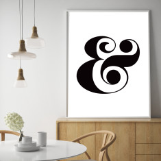 The ampersand art print (various sizes)