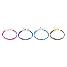 Suede charm bracelet
