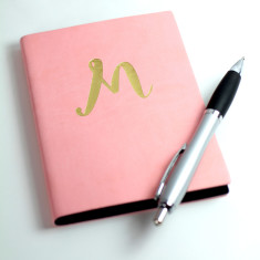 Personalised Initial Pu Leather A6 Notebook
