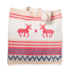 Nordic summer canvas tote in neutral