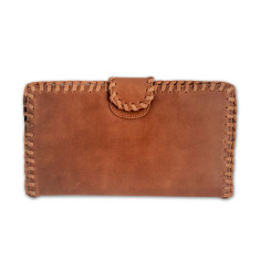 Sundance woven leather oversized wallet