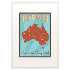 Vintage Australia print