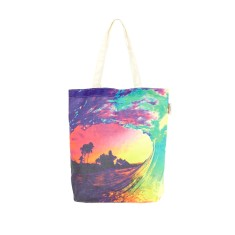 Sunset wave tote