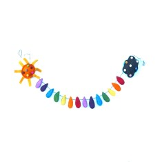 Sunshine and rainbow felt garland