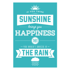 Sunshine & rain art print