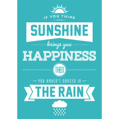 Sunshine and rain quote postcards