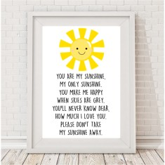 You are my sunshine children's print