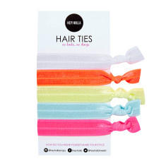 No Kink hair ties in super sorbet