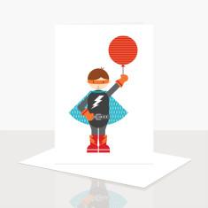 Superhero Birthday Greeting Card (Pack of 8)