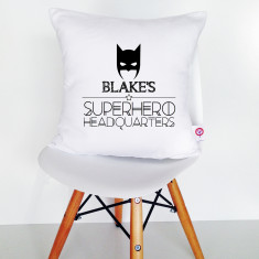 Personalised black and white cotton cushion cover (various designs)