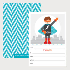 Superhero Invitations (Pack of 12)