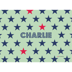 Superstar personalised placemat