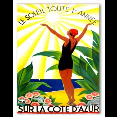 Sur La Cote D'Azur canvas