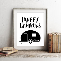 Personalised Happy campers print