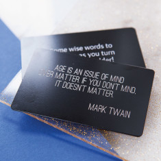 Personalised quote keepsake wallet card