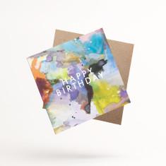 Happy Birthday Inkblot Greeting Cards (Pack of 3)