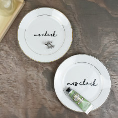 Mr And Mrs Personalised Trinket Jewellery Dish Set