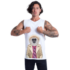 gibbon monkey men's muscle tank