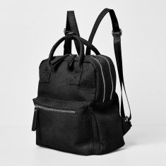Off Beat vegan leather backpack in various colors