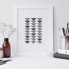 Triangles drawing print