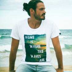 Home is where the waves are t-shirt