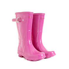 Wellington boots in pink