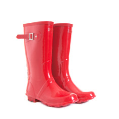 Wellington boots in red