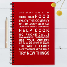 Kitchen Rules Notebook