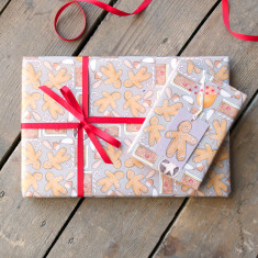 Sweet Christmas wrapping paper set