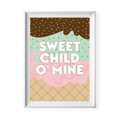Sweet child o' mine print