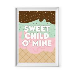 Sweet child o' mine print